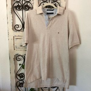 Tommy Hilfiger tan polo shirt